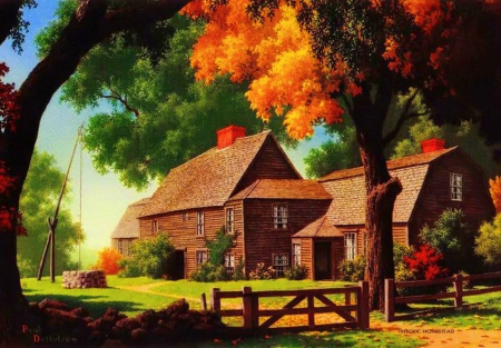 Home Fall Desktop Wallpapers Autumn Countryside Other Amp Abstract Background