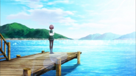 Nice Girl Hd Wallpaper Download Blue Sea Other Amp Anime Background Wallpapers On Desktop