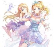 cute princess - & anime background