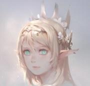 elf princess - & anime background