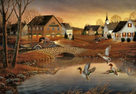 Free Country Fall Wallpaper Country Village F1 Birds Amp Animals Background Wallpapers