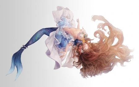 Wallpaper Desktop Girl Falling Falling Mermaid Other Amp Anime Background Wallpapers On