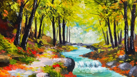 Desktop Wallpaper Fall Leaves Autumn Watercolor Rivers Amp Nature Background Wallpapers