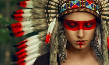 native american girl models