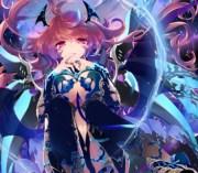 pink vampire - & anime background