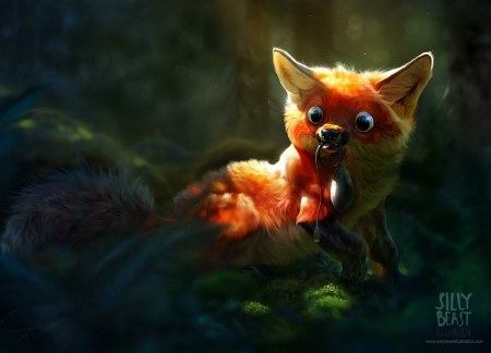 Cute Silly Wallpapers Silly Fox Fantasy Amp Abstract Background Wallpapers On