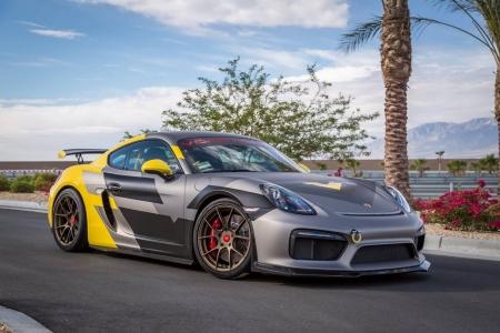 Cayman Gt4 V Cs Aero By Vorsteiner Porsche Cars Background