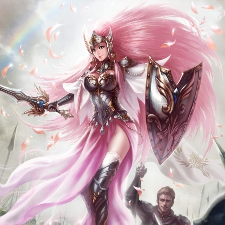 Cute Bow And Arrow Wallpaper Pink Knight Fantasy Amp Abstract Background Wallpapers On