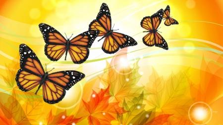Fall Pumpkin Desktop Wallpaper Free Fall Butterflies Butterflies Amp Animals Background