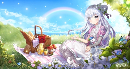 Cute Black Girl Cartoon Wallpapers Spring Picnic Other Amp Anime Background Wallpapers On