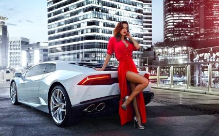 Lamborghini Huracan - Girls and Cars & Cars Background Wallpapers on Desktop Nexus (Image 2286037)