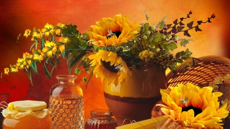 Fall Sunflowers Wallpaper Sunflowers And Honey Flowers Amp Nature Background
