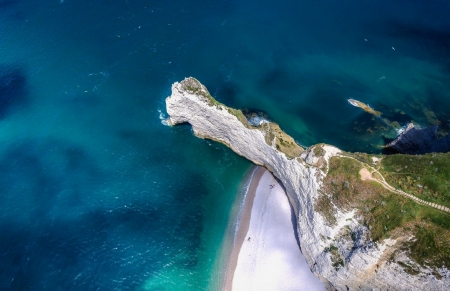 Aerial of Coastal Beach Cliffs Beaches Nature