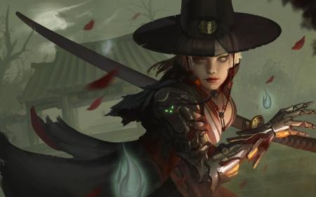 Samurai Sword Girl Wallpaper Samurai Cyborg Fantasy Amp Abstract Background Wallpapers