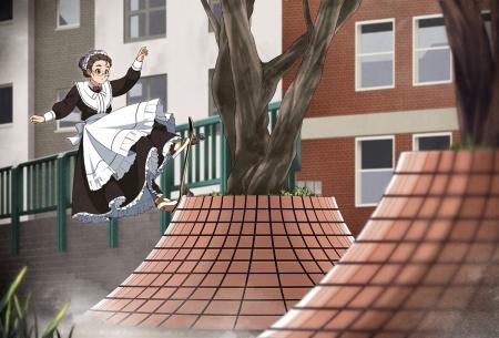Skateboard Girl Wallpaper Skateborading Maid Other Amp Anime Background Wallpapers