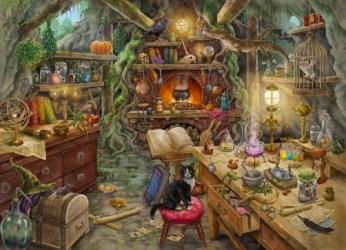 witch kitchen fantasy background halloween desktop