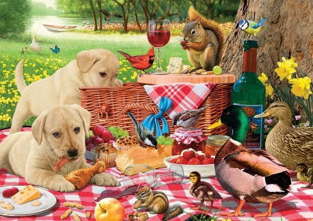 Cute Puppy Wallpapers Downloads Picnic Fantasy Amp Abstract Background Wallpapers On