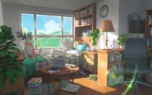 anime student wallpapers bookshelf