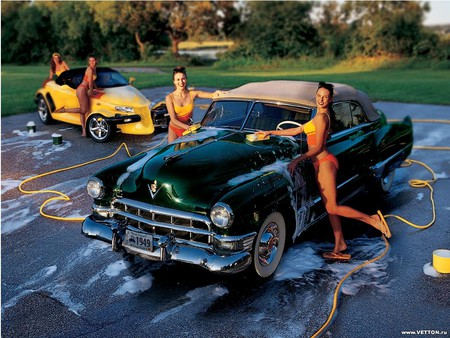 Girls Washing Girls And Cars Amp Cars Background