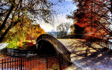 Falling Leaves Wallpaper Free Download Beautiful Autumn Bridges Amp Architecture Background