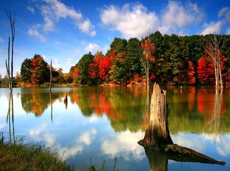 Michigan Fall Colors Wallpaper Beautiful Lake Lakes Amp Nature Background Wallpapers On