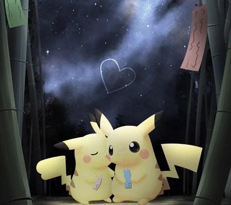Chibi Cute Couple Wallpaper Pikachu Love Pokemon Amp Anime Background Wallpapers On