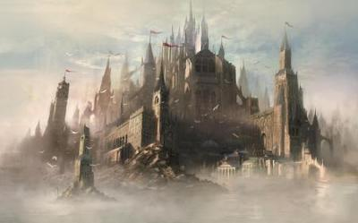 Gothic Seaside Castle Fantasy & Abstract Background Wallpapers on Desktop Nexus Image 574314