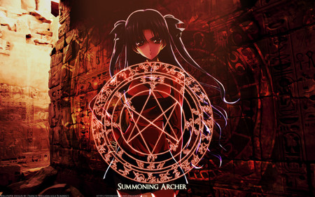 Girl Mustang Wallpaper Magic Circle Fate Stay Night Amp Anime Background