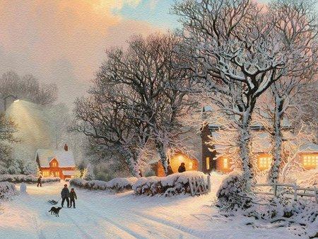 christmas scenery winter nature