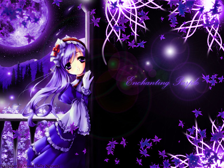 The Cute Wallpapers Ever For Computer Enchanting Purple Anime Other Amp Anime Background