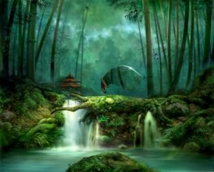 Forest Beautiful Fantasy Wallpaper