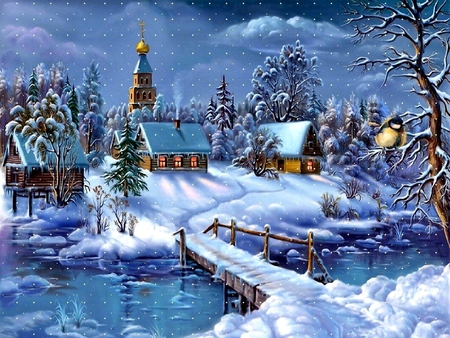 WINTER VILLAGE  Winter  Nature Background Wallpapers on Desktop Nexus Image 873417