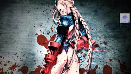street fighter cammy with blood blotches  Street Fighter