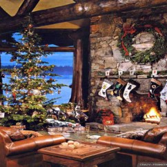 Pictures Of Living Room Decorated For Christmas Large Wall Decor Tree - Houses & Architecture Background ...