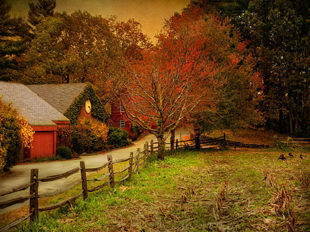 Vermont Fall Farm Wallpaper An Autumn Farm Other Amp Abstract Background Wallpapers On