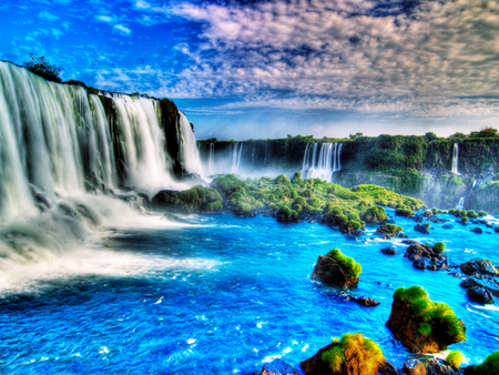 Colorful Fall Scene Wallpaper Great Waterfalls In Hdr Waterfalls Amp Nature Background