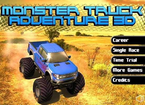 Monster Truck Adventure 3D Funny Car Games