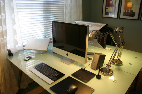 His Hers And The Media Centre A Compact Home Office