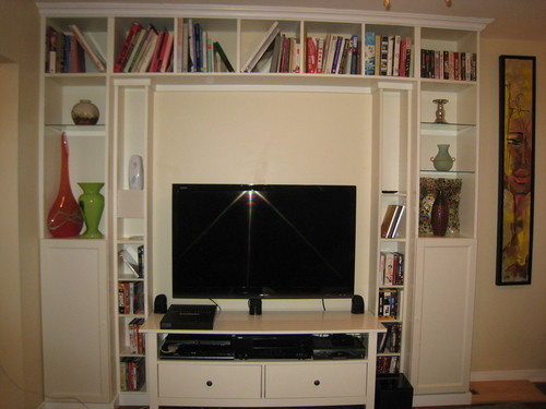 Diy Built In Home Theatre From Ikea Bookcases Lifehacker