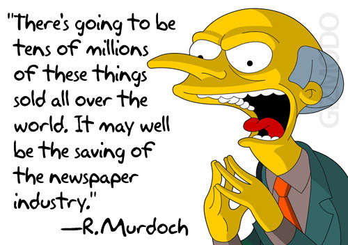 Murdoch: iPad May Save Newspapers