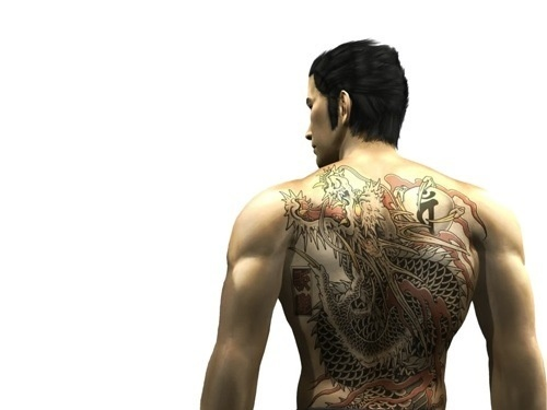 Keep Your Yakuza-Style Tattoos To Yourself Kazuma Kiryu, the hero of Sega's