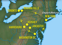 6-Day Ultimate East Coast Tour by Private Plane: New York City, Washington DC, Niagara Falls, Toronto & Pennsylvania Amish Country