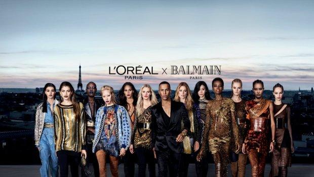 campagne L'Oréal X Balmain