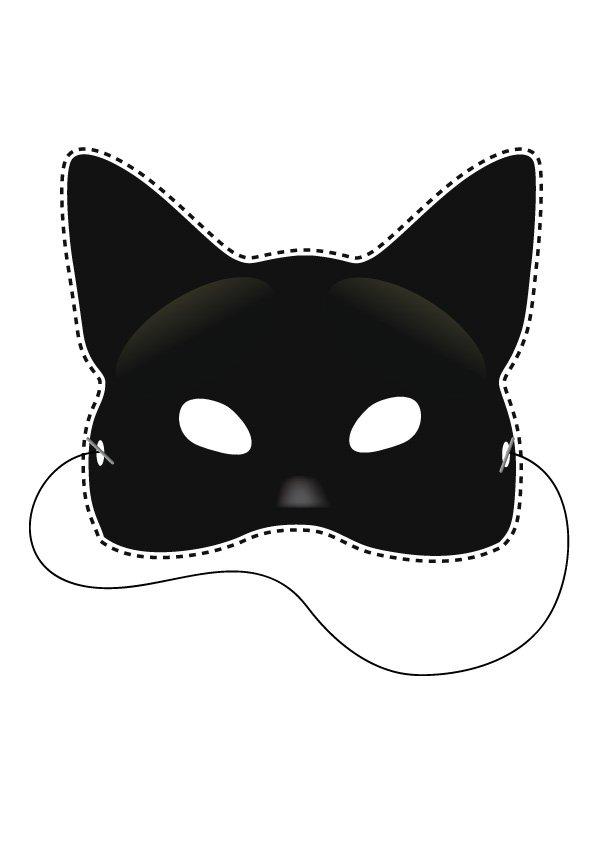 Masque de chat  dcouper  Magicmamancom