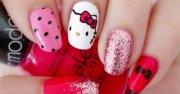nail art kitty 1 tuto