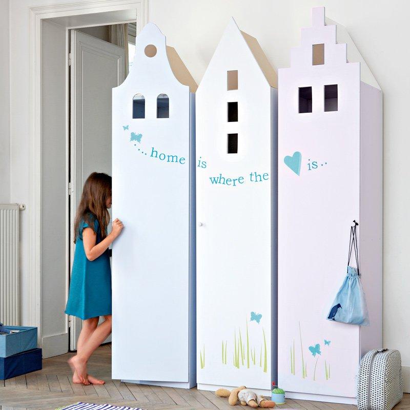 Des armoires pour enfant en forme de maison  Marie Claire