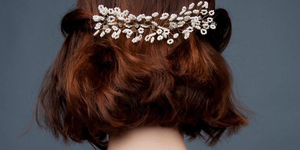 Coiffure Mariee Headband Cheveux Mi Long Modele Tresse