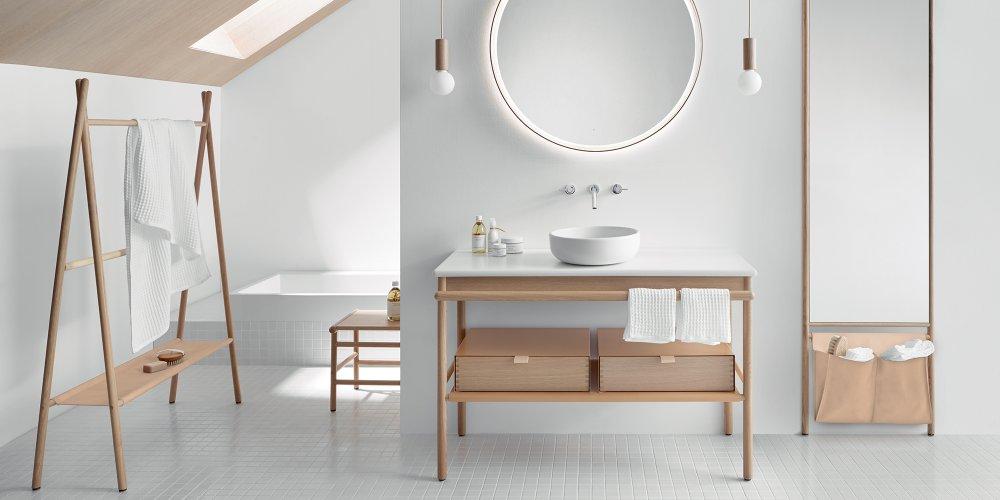 meuble de salle de bains design blanc