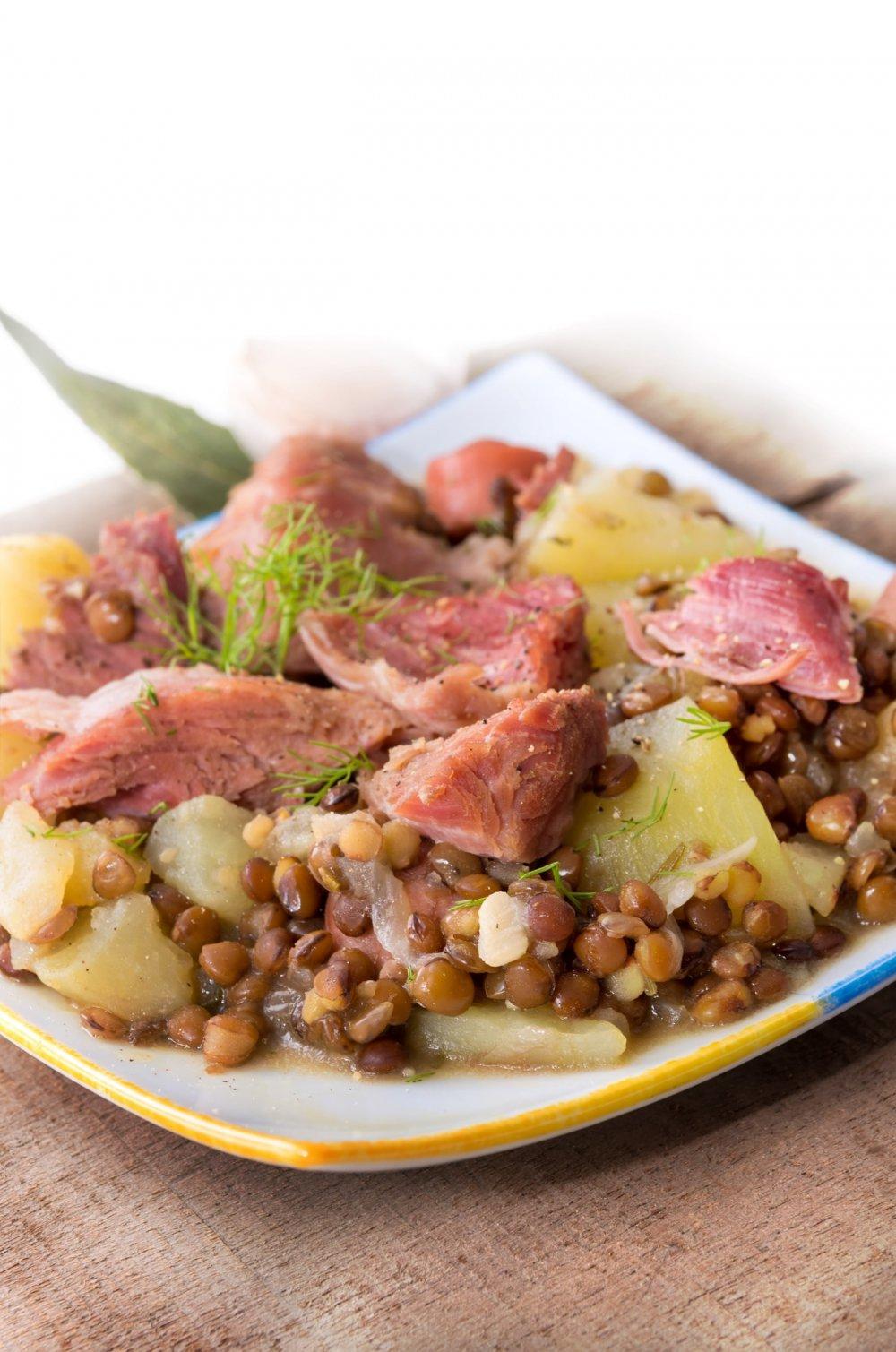 Cuisson Jarret Demi Sel : cuisson, jarret, Recette, Jarret, Lentilles, Vertes, Marie, Claire