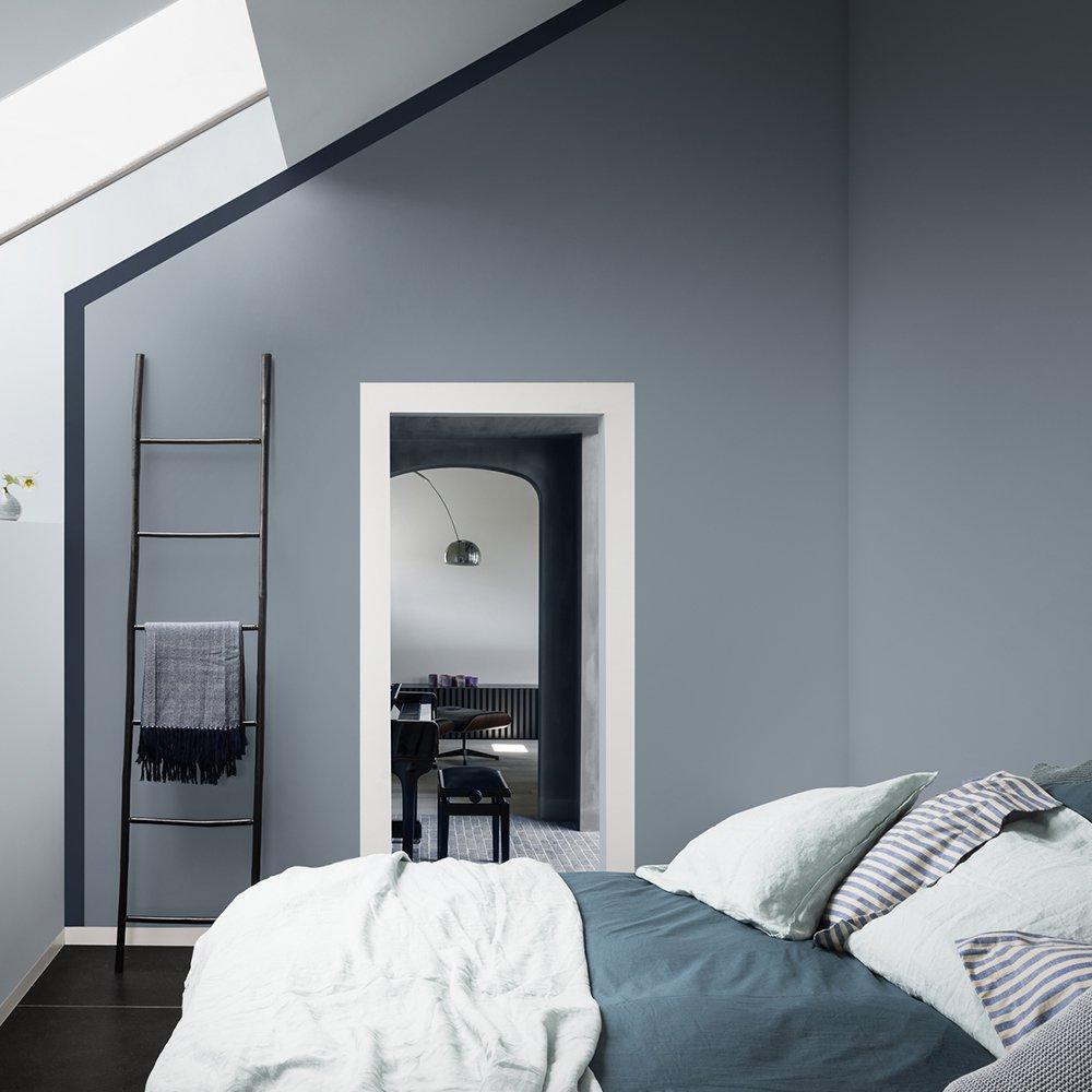Bleu gris couleur de lanne 2017 pour Dulux Valentine  Marie Claire